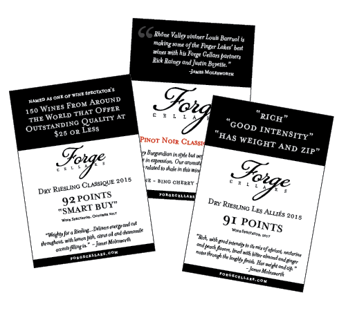 Forge Cellars - Shelf Talkers - POS Materials