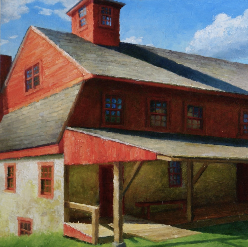 """Old Newlin Mill 1, 2015    oil on wood panel -- 18"""" X 18""""    SOLD"""