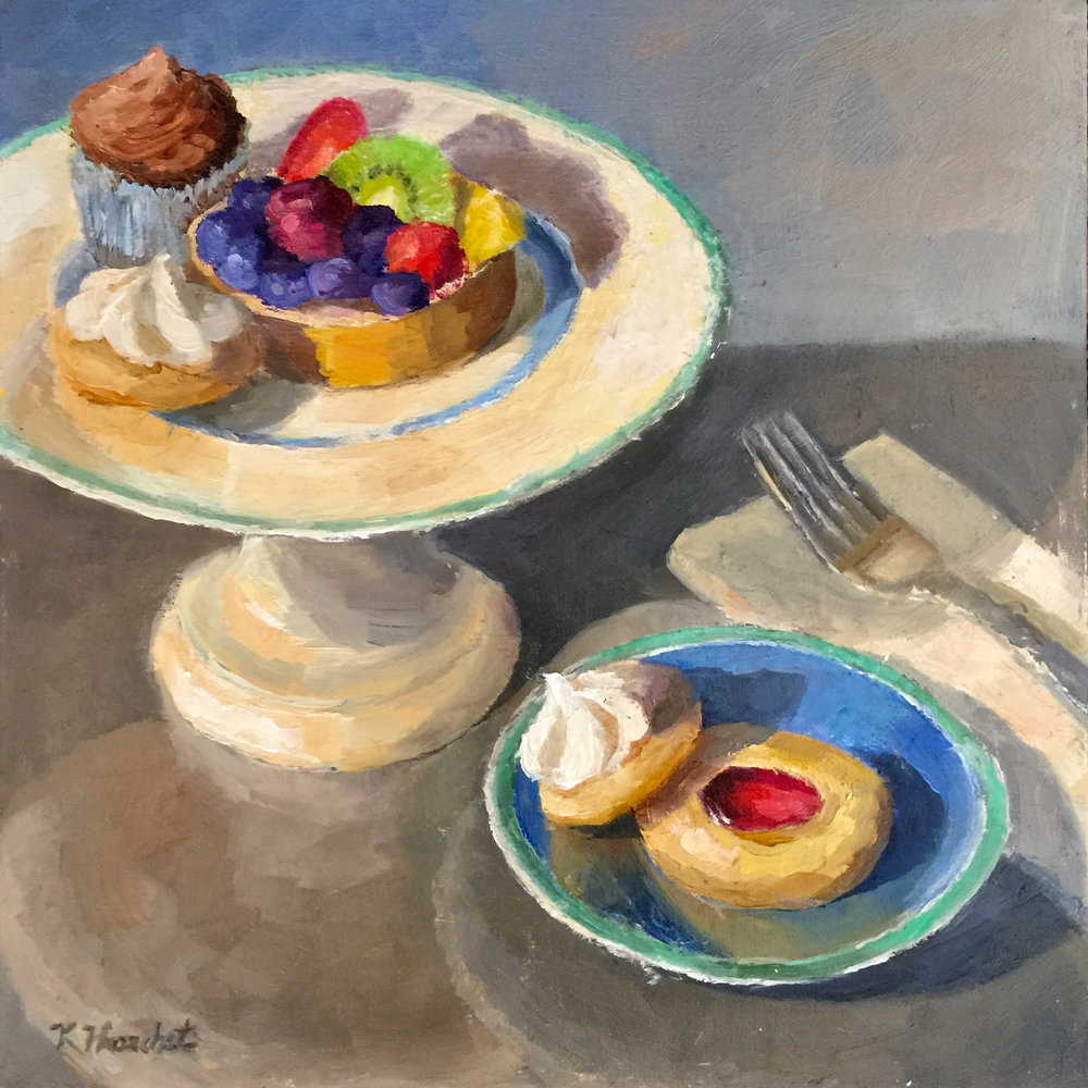"Sweet Tarte  2018    10"" X 10,"" oil on linen panel    AVAILABLE - Station Gallery, Greenville, DE"