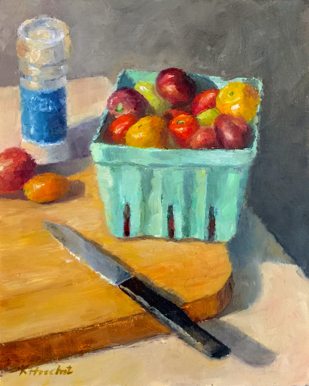 "Fresh Picked,  2018    8"" X 10,"" oil on linen panel    AVAILABLE - Station Gallery, Greenville, DE"
