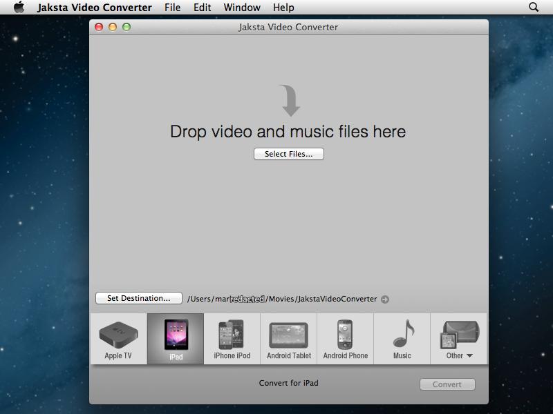 Jaksta Video Converter Intro Screen
