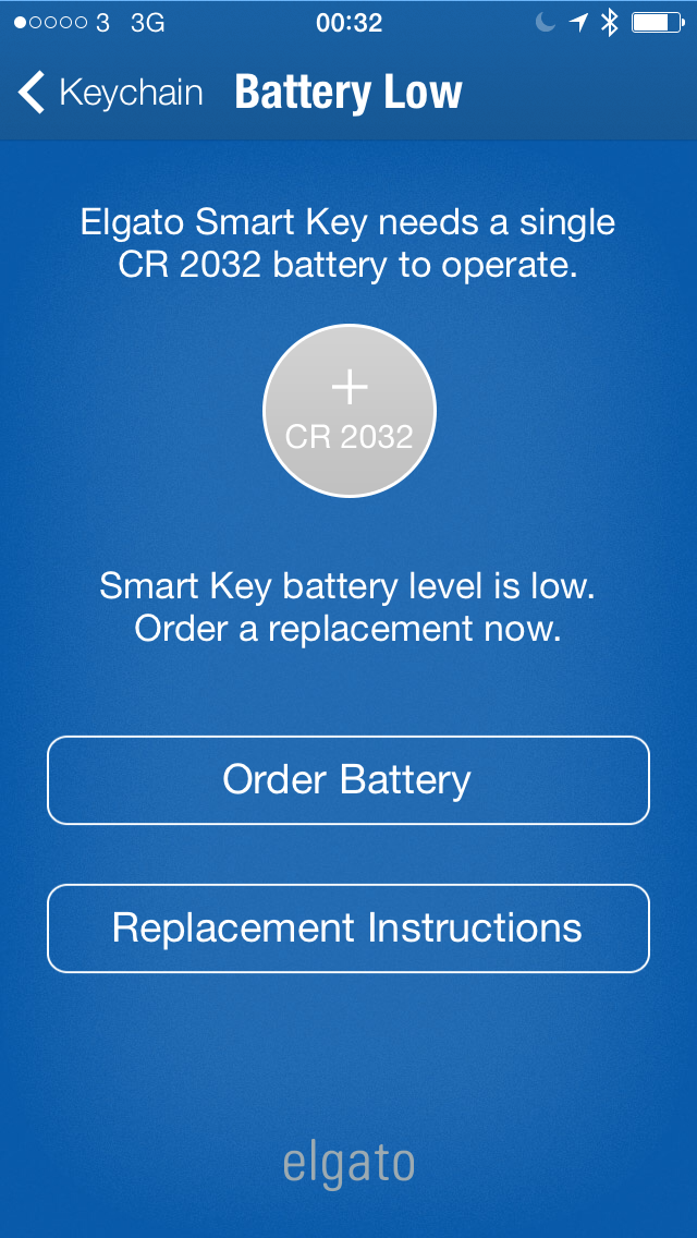 Elgato Smart Key Battery Warning