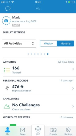 RunKeeper Activities