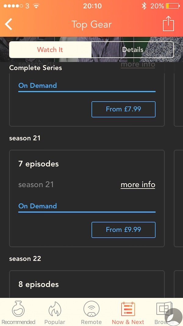 Utelly Top Gear Season 21 Pricing 1