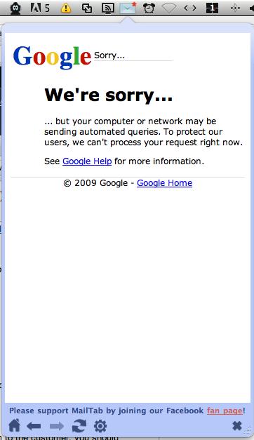 Mailtab Desktop Error