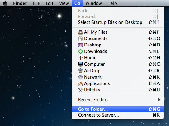 Goto Folder In Finder