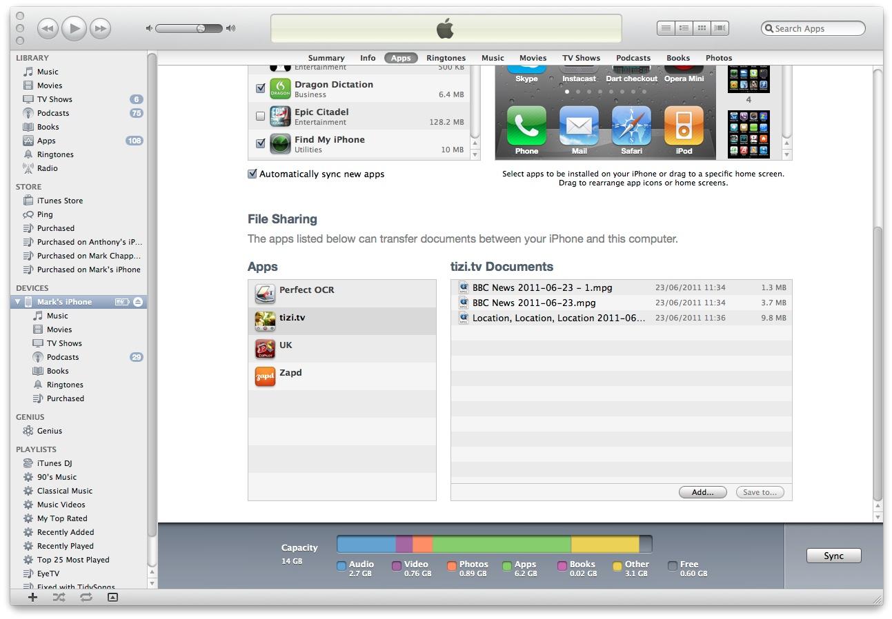 Downloading Tizi Recordings.