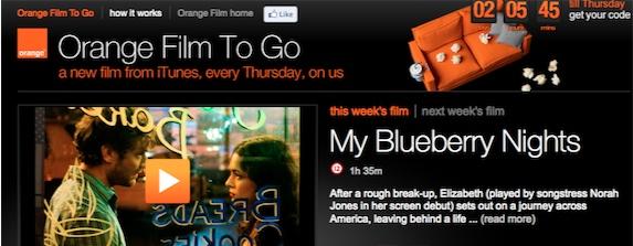 Orange Free Movie Thursday