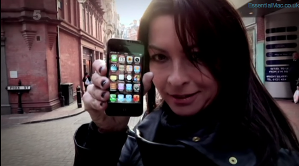 Gadget Show Suzi Perry iPhone 4s Test