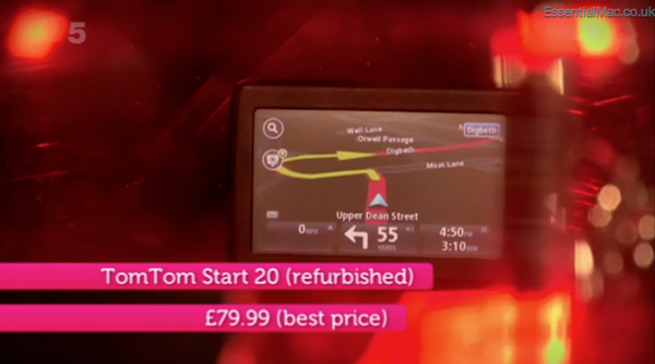 Gadget Show Suzi Perry iPhone 4s v TomTom Start 20