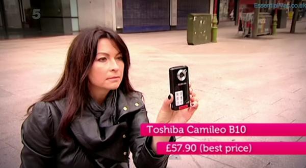 Gadget Show Suzi Perry iPhone 4s v Toshiba Camileo B10
