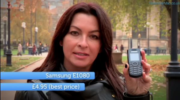 Gadget Show Suzi Perry iPhone 4s vs Samsung E1080