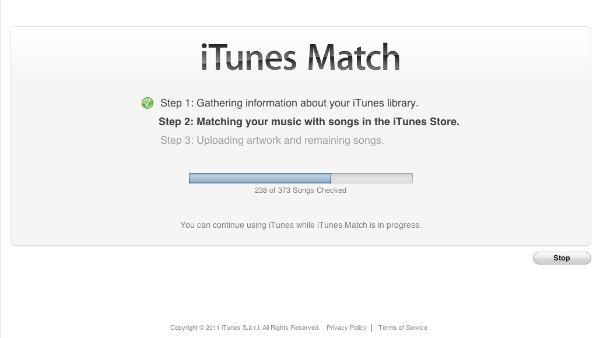 iTunes Match Gathering Information