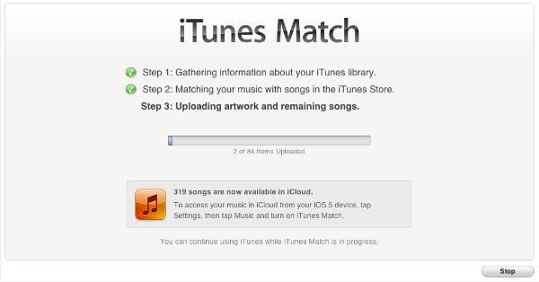 iTunes Match Step 3