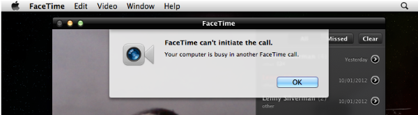 FaceTime cant initate call