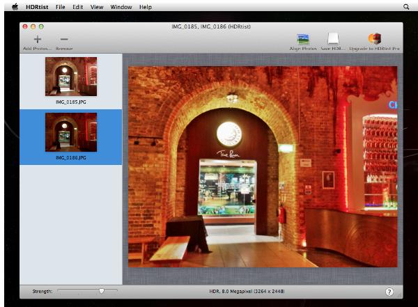 HDRtist image window