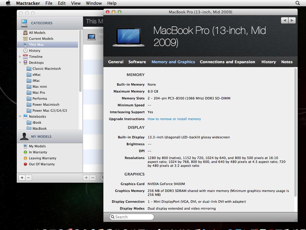 Mactracker Datasheets