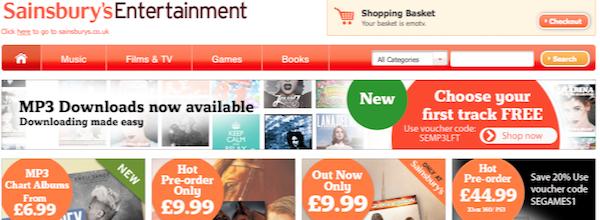 Sainsburys Entertainment offers