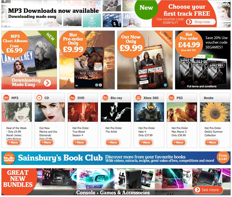 Sainsburys Entertainment