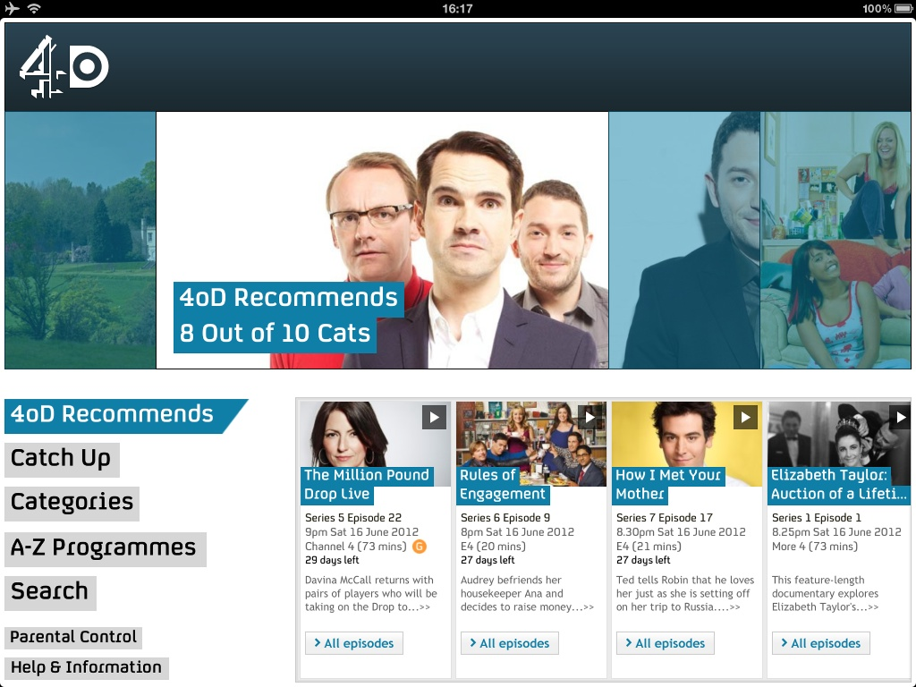 4od TV Catchup