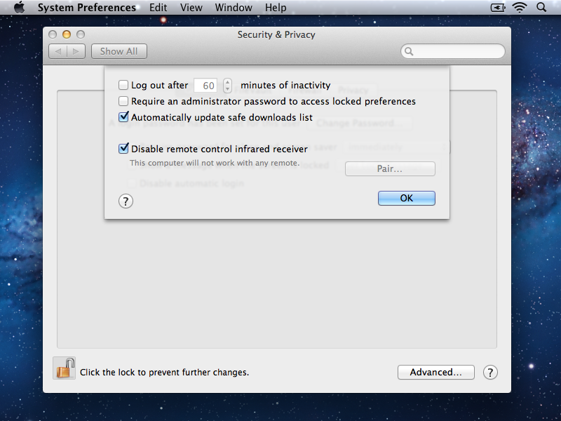 Disable Remote on iMac in Lion
