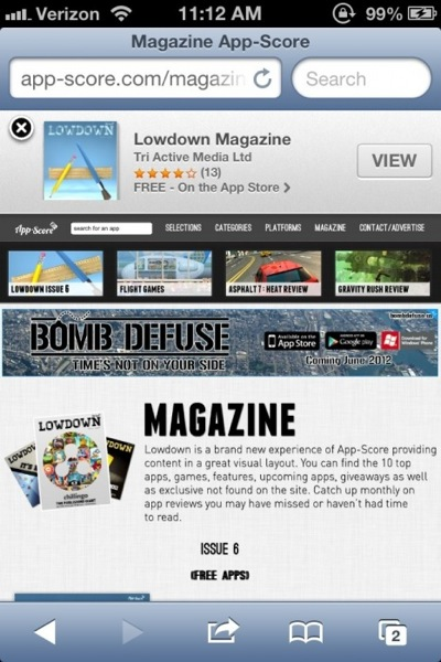 Ios 6 beta 2 Safari Smart Banners