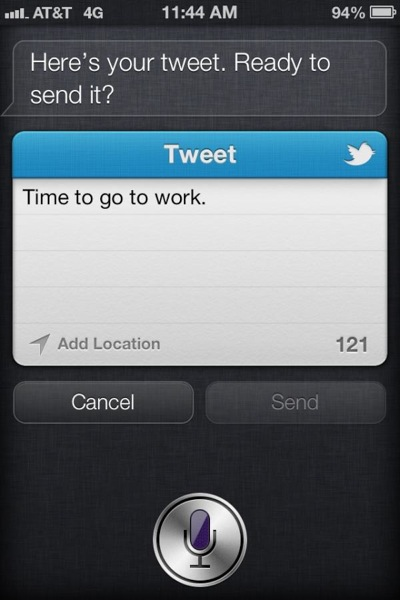 Ios 6 beta 2 Siri TweetSheet