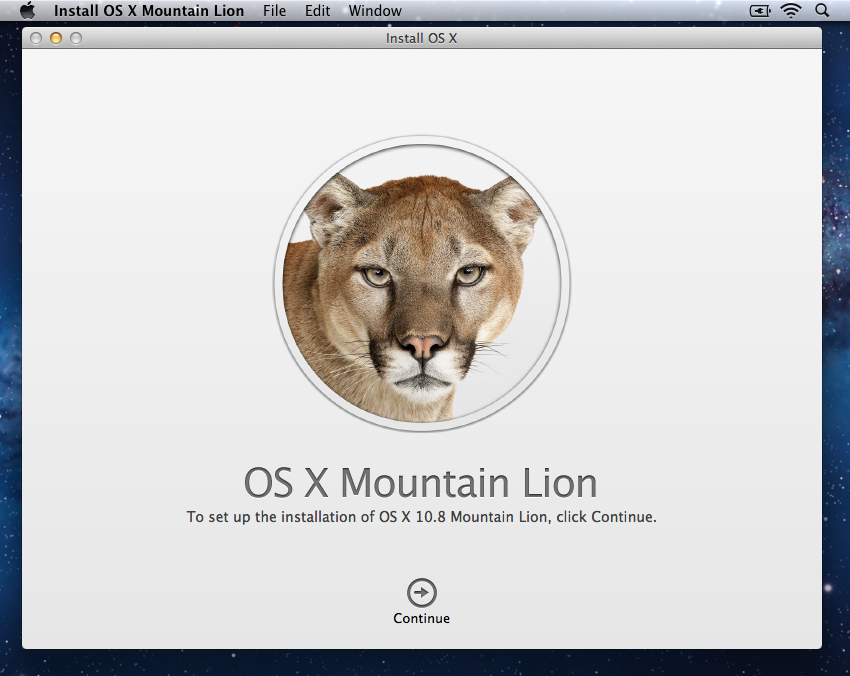 Install OS X Mountain Lion 1