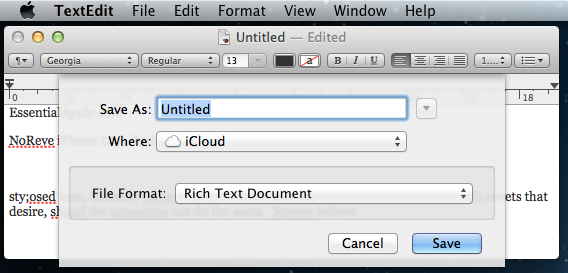 Save Text Documents to iCloud
