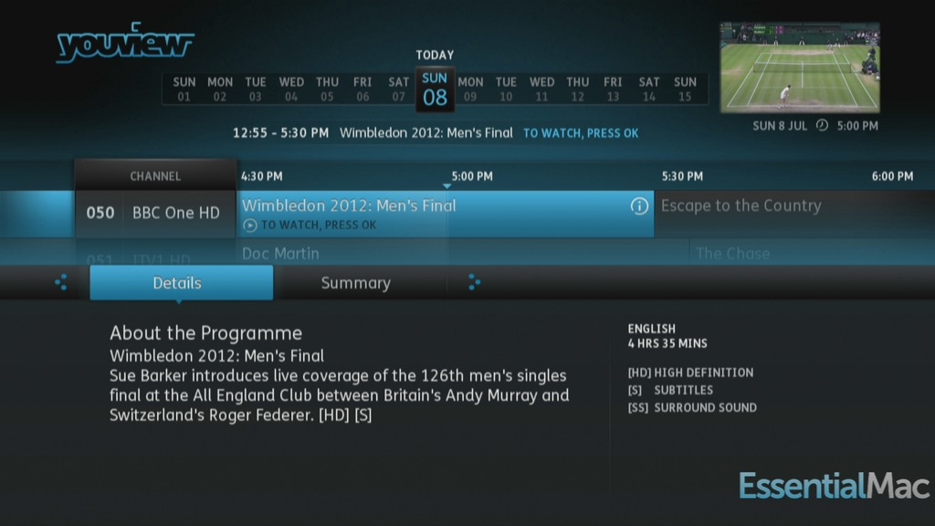 YouView Guide Details