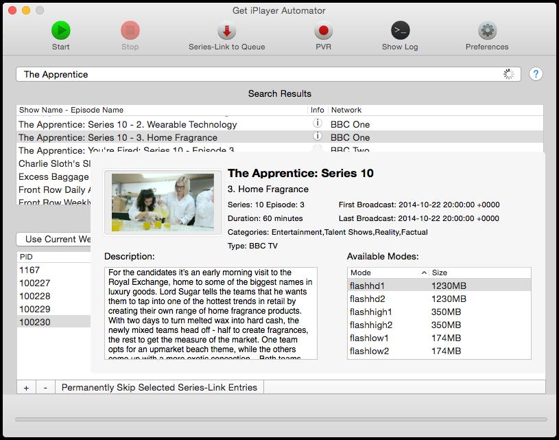 Get iPlayer Automator 1.8.1 Program Information