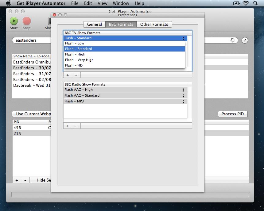 Get iPlayer Automator Filters