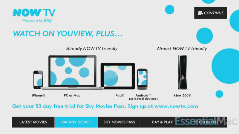 Sky Now TV On Any Device
