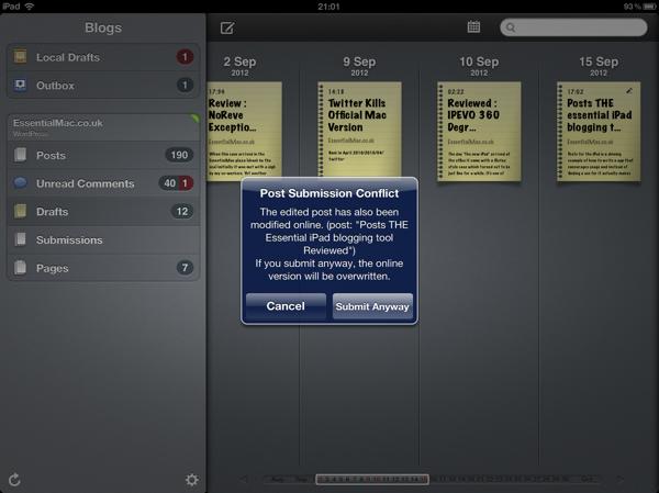 Posts iPad App Conflict Management