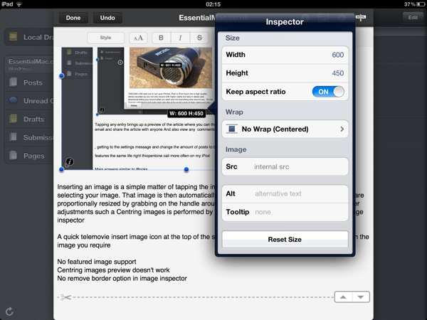 Posts App Image Inspector