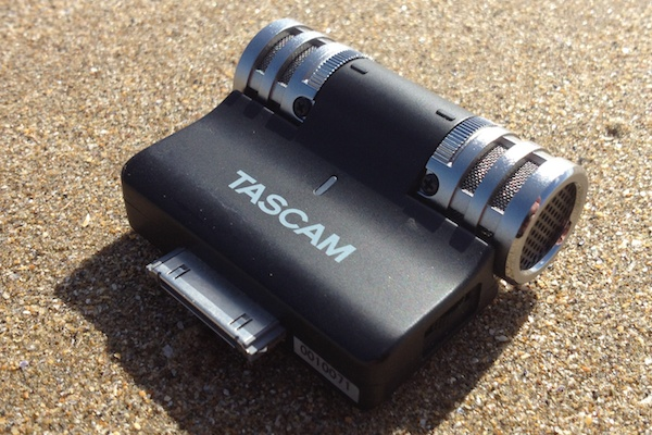 Tascam iM2 on the beach