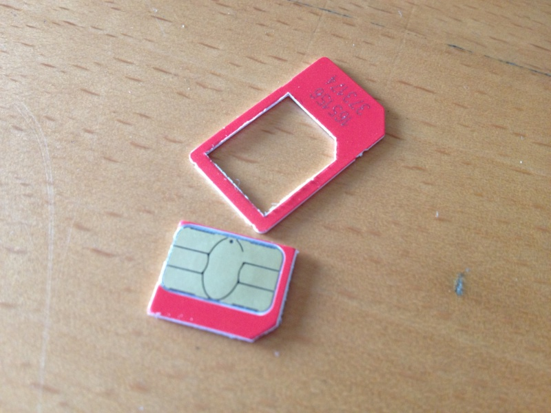 Virgin Sim to Micro Sim Finished Result