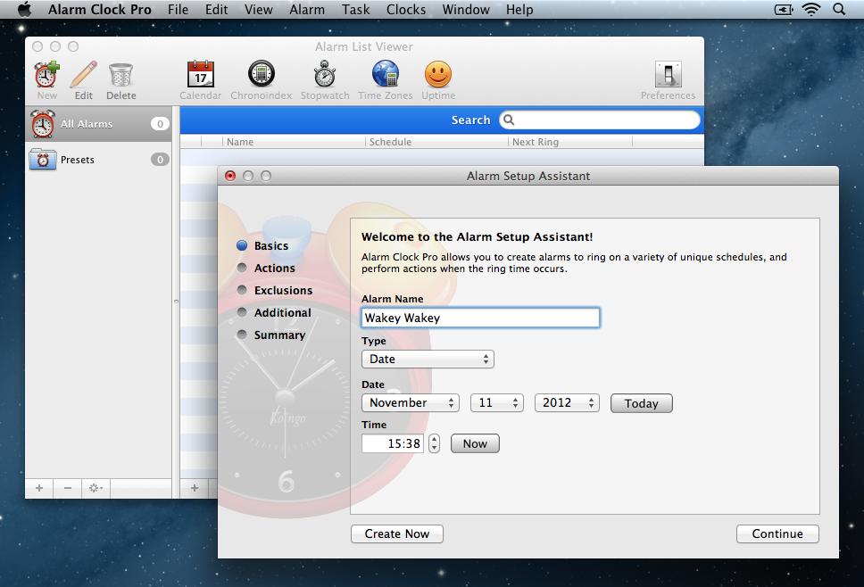 Alarm Clock Pro Setup 1