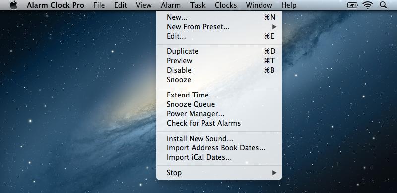 Alarm Clock iCal Import