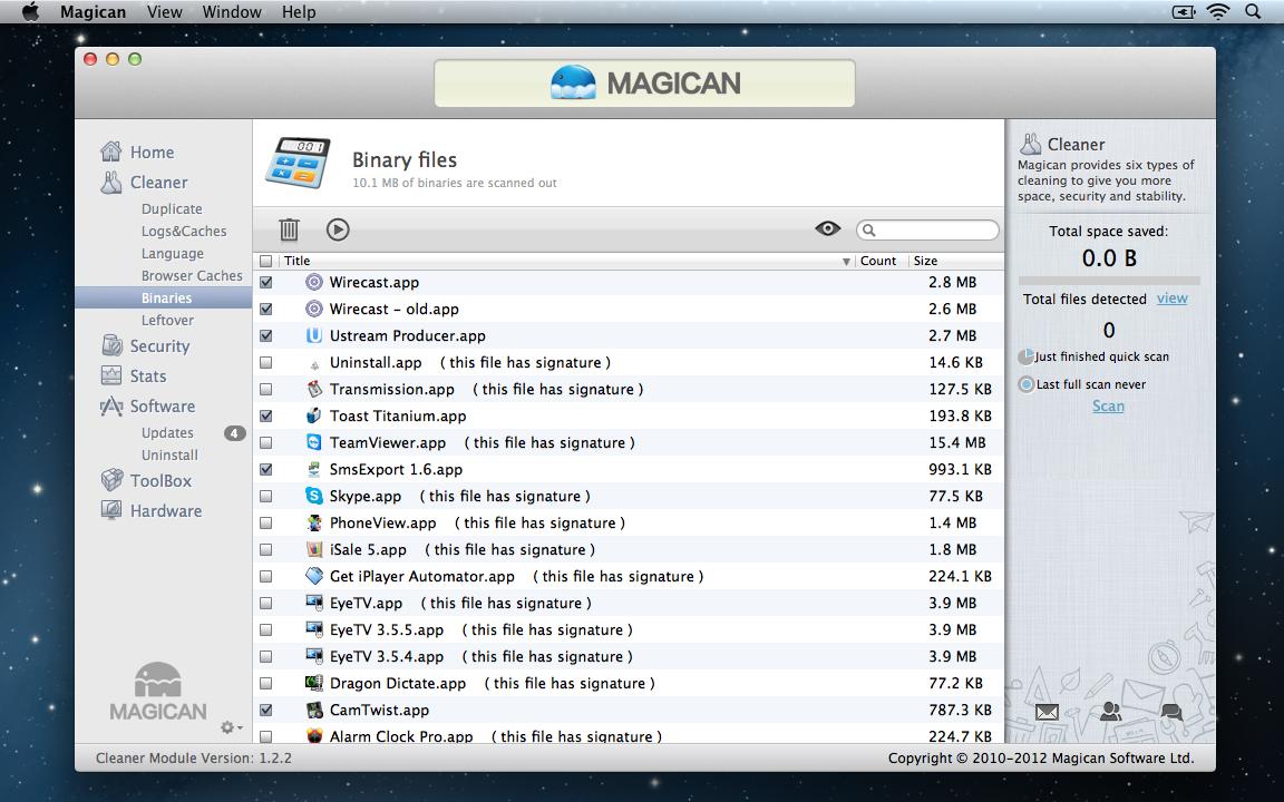 Magican Binary Files