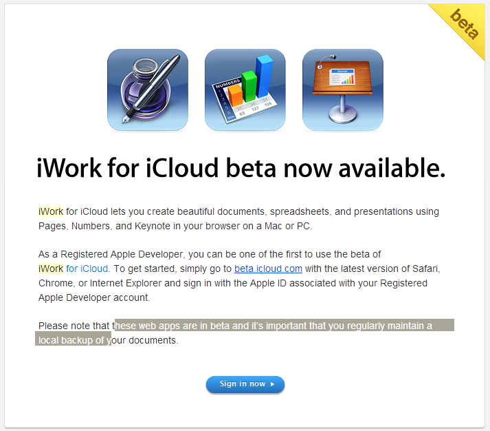iwork for icloud invite
