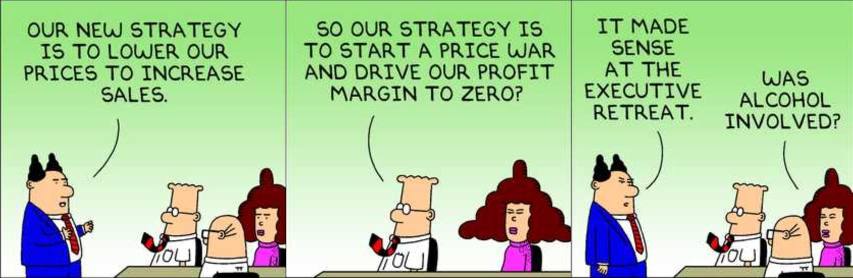 Dilbert Explains Price Wars