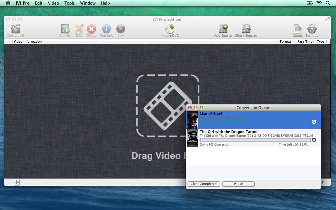 iVI Video Conversion Progress