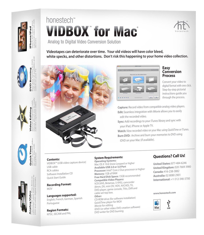 Vidbox for Mac Box Back