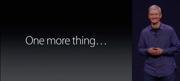 Tim Cook.  One More Thing