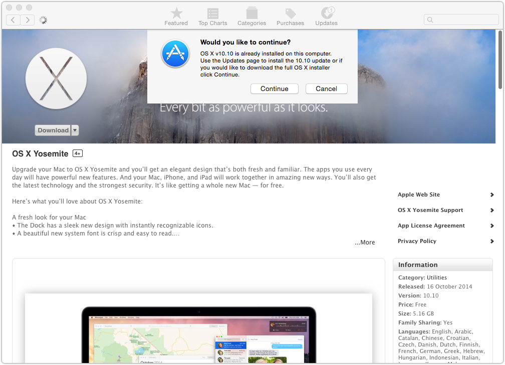 Yosemite Offline Installer