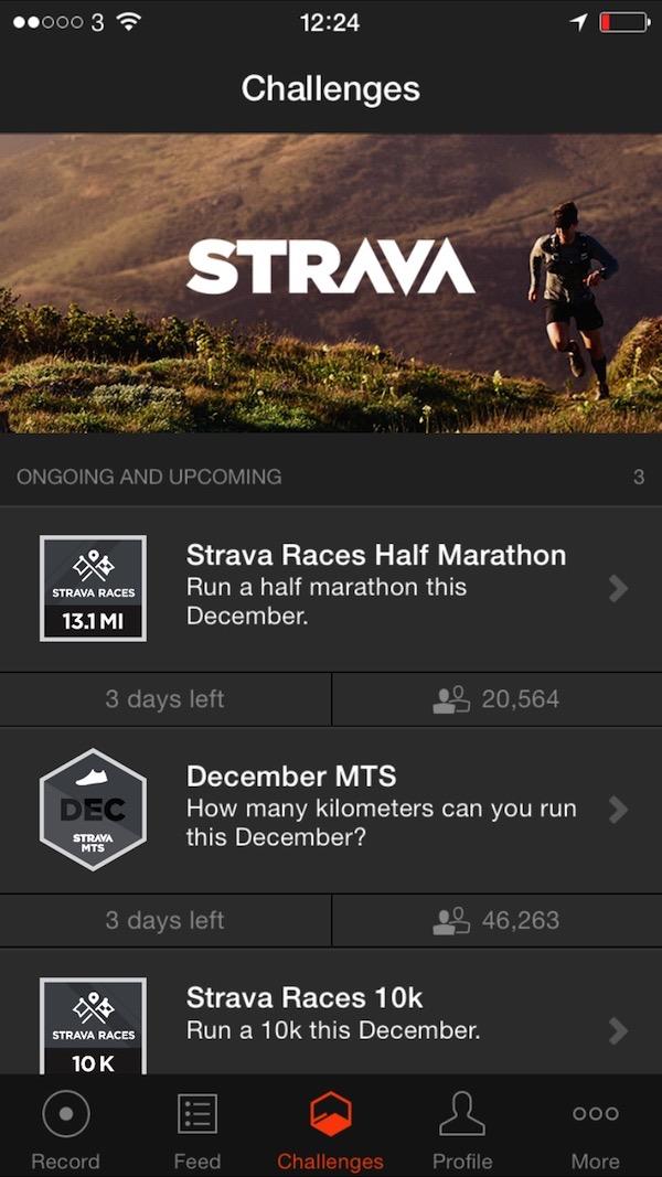 Strava Run App Challenges