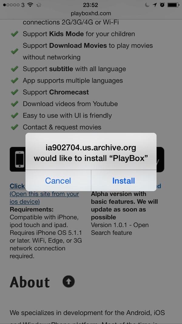 PlayBoxHD Certificate Installation