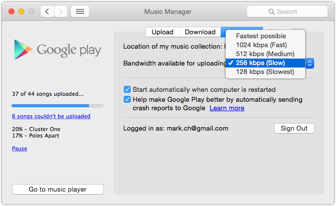Google Play Music Manager