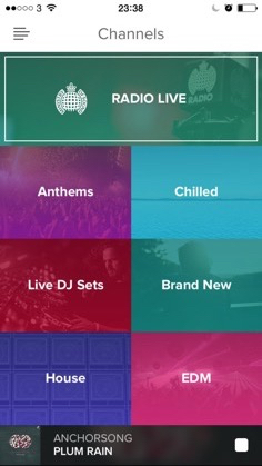 Ministry Of Sound Radio Channels